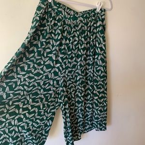 Anthropologie wide legged pants